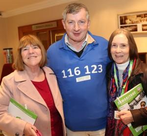 Conferece attendees Sally Walsh, John Hanlon and Mary Roche.