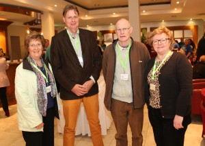 Anne Kelly, Rory Fitzgerald, Steve Breen and Maura Saddington, who attended the Samaritans National Conference recently held in Waterford.