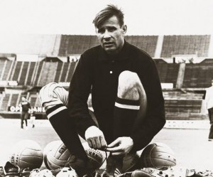 The great Lev Yashin, whose acrobatics persuaded a young Terence to become a goalkeeper.