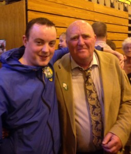 Near miss: Sinn Féin's Michael Doyle and Cllr John Hearne.