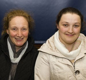 Ruth Curran pictured with Care Assistant Elaine Burke at the Sacred Heart Centre.
