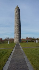 The symbolic Round Tower at the Island of Ireland Peace Park, Messines.