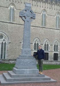 Kieran at the Royal Munster Fusiliers Memorial in Ypres.
