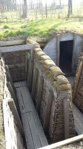 Recreated trenches at the Passchendaele Museum.