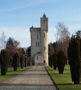 The Ulster Tower which commemorates the men of the 36th Division and all those from Ulster who served in the First World War.