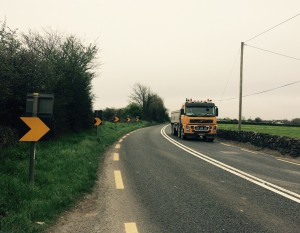 'The Bends' in Mooncoin, which Transport Infrastructure Ireland believes ought to remain an 80kph zone. Good luck finding anybody living locally who'd agree with that.