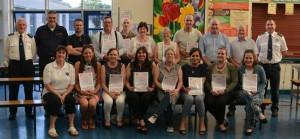 Recipients of CFR certificates pictured at St. Declan's Community College, Kilmacthomas.