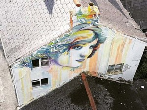 Stunning art work by Dermot McConaghy (ArtDMC) on Tramore's Main Street. Concern has been expressed for a mural set to be created in Ballybricken as part of the Waterford Walls Festival.
