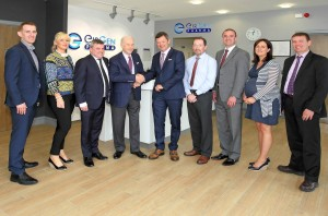 Pictured with the senior management team of EirGen Pharma is Dr Philip Frost who is Chairman & CEO of OPKO Health In. - his visit to Waterford follows the recent expansion plans. EirGen Pharma was acquired by OPKO Health Inc. in 2015