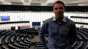 Kieran Foley; Inside the European Parliament where Brexit is currently the main issue of concern
