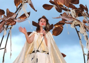 Anna Jordan scaling new heights in Waterford The Musical', Spraoi's Sunday night parade.