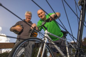 Chef Paul Flynn and Donal Jacob of Greenway Waterford Bike Hire on the Waterford Greenway, which is due to be formally opened by the end of March