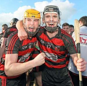 Champions again: Ballygunner captain Brian O' Sullivan and JJ Hutchinson celebrate their victory