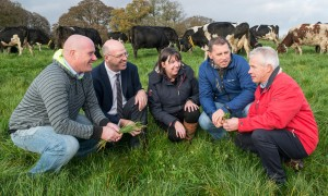 Pictured in Moorepark at the launch of the Teagasc National Dairy Conference on 'Technologies for Success' which takes place in Rochestown, Cork on December 6th and in Mullingar on December 7th, are speakers John Phelan (Kilmeaden, Co Waterford), Brendan Smiddy (Teagasc, Cork East Region), Anne-Marie Butler (Ulster Bank), Donald Bateman (Cahir, Co Tipperary) and Michael Gowen (Kilworth, Co Cork).  | Photo: O'Gorman Photography