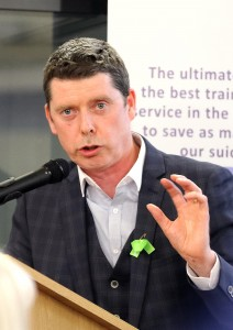 Michael O'Brien of Pieta House, Waterford, pictured at the Waterford Women's Support Network Positive Mental Health Seminar at the Edmund Rice Centre on Thursday last.  | Photo: Noel Browne