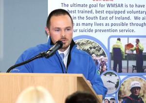 Declan Barry of Waterford Marine Search & Rescue, speaking at the Edmund Rice Centre. | Photo: Noel Browne