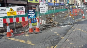 Significant excavation work is causing disruption for some local businesses in the Apple Market.
