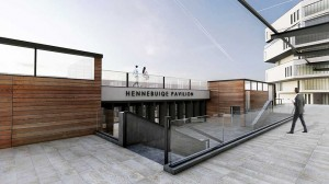 The envisaged Hennebique Pavilion on North Quay, which may also feature the relocated Waterford (Plunkett) Station. Inset: Iarnród Éireann Communication Manager Barry Kenny.
