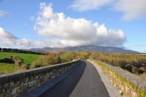 The Comeragh Mountains viewed from the Waterford Greenway in Kilmacthomas