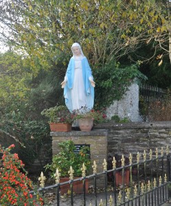 Statue of Our Lady in Glenmore village.