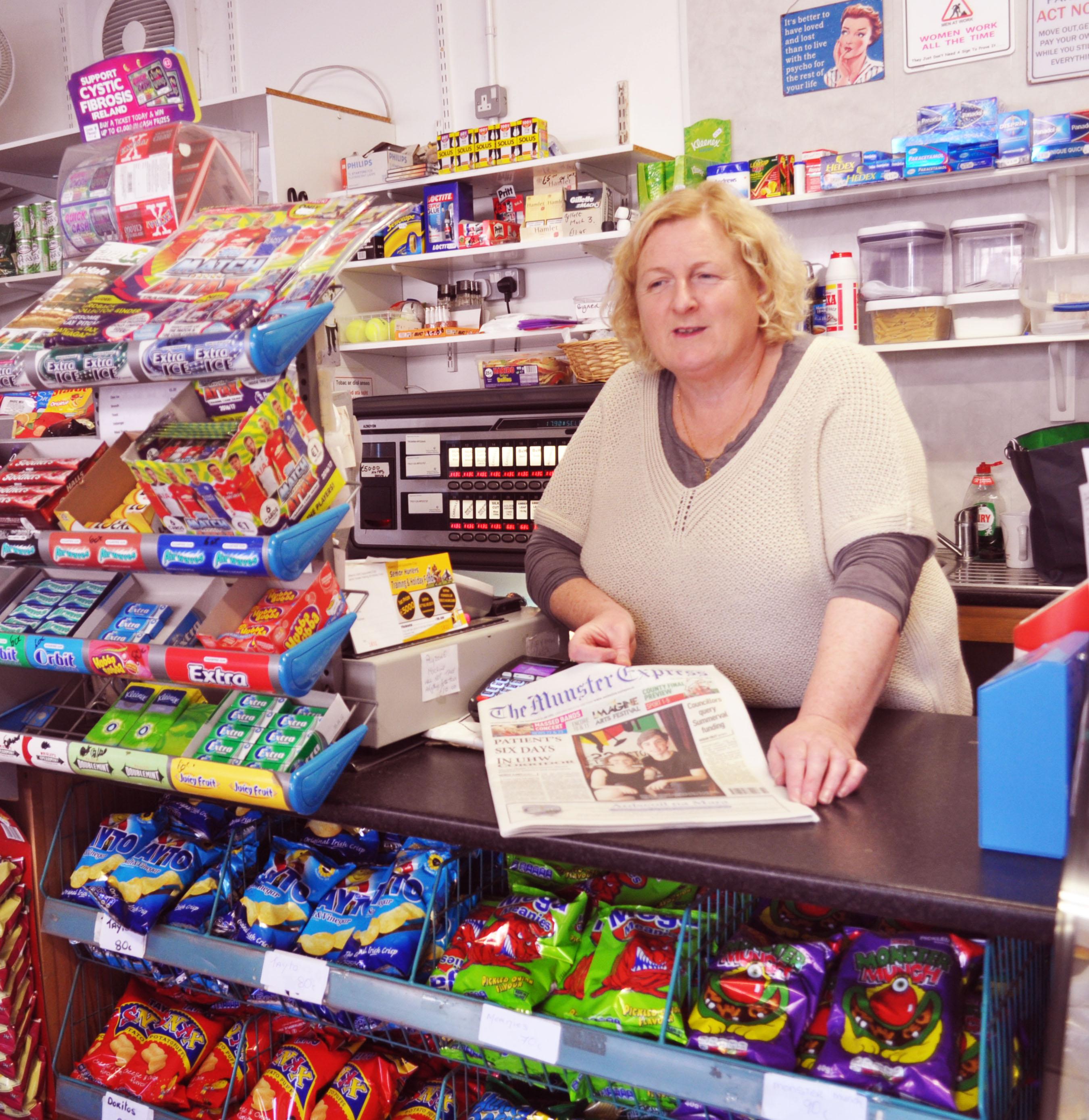 Noeleen Fogarty pictured in Noeleen's Village Shop.