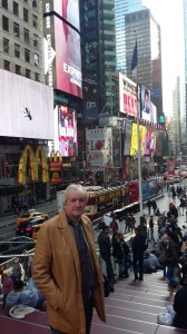Tramore's Sean O'Kelly enjoying the sights of New York before he and friend, Ward Walsh, attended the Conor McGregor fight in Madison Square Garden as VIP guests.