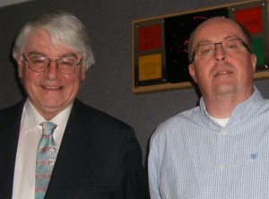 Muiris, pictured with former Tipperary TD and key Irish Government advisor, Martin Mansergh.