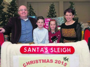 Muiris Walsh pictured last Christmas with his wife Cathriona and children Sean and Bronagh