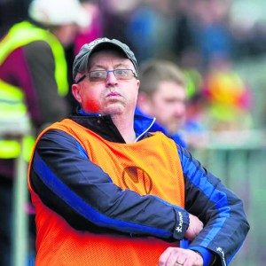 Muiris Walsh in his sideline guise with The Nire Football Club.