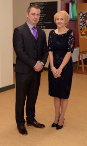 Kevin Langton, Principal of Comeragh College, pictured with Deputy Principal Kathleen O'Donnell-Ryan, pictured at last Friday's official opening.