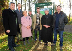 Fr.Brian Power PP, Robert Hamilton, Forest Service, Mary Torrie, Treasurer, Dunmore Woodland Trust, Lord Waterford, Mayor of Waterford City & County Council, Cllr.Adam Wyse, Dean of Waterford, Revd.Maria Jansson and Robert Enright, Forestry Services Ltd.