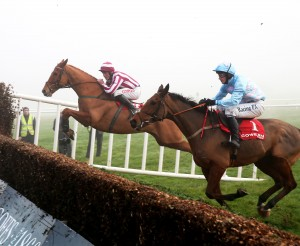 Zabana ridden by Davy Russell en route to victory at Gowran Park Photo: Caroline Norris