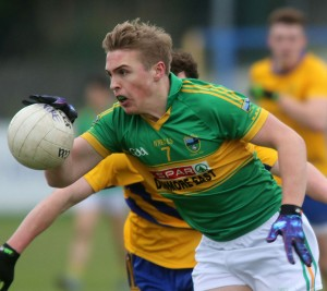 Gaultier's Sean Kelly surges towards The Nire goal.