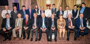 Seated from left: Brendan Tobin (Awards Committee), Eddie O'Shea (Special Merit Award),  Monnie Hallahan (Special Recognition to Culture Award), Fergus Dunne (Chairman, Ballyduff Lower, Club of the Year), Jim Dee (Jack Furlong Award), Mossy Landy (Special Merit Award), Patricia Walsh (Special Recognition Award), Pat McCarthy (Seamus O'Brien Award) and Pat McGrath (Hall of Fame Award). Standing from left Pat Casey, John Sheehan, John Murphy and Niall Moore (Awards Committee), Thomas O'Gorman (Adult Footballer of the Year), Paddy Joe Ryan (Chairman, County Board), Jack Prendergast (Underage Hurler of the Year), Austin Gleeson (Adult Hurler of the Year), Teddy McCarthy (Cappoquin/Affane), Nick Keating (on behalf of Under-21 Hurling Manager and Special Achievement Award winner Sean Power), Dylan Guiry (Underage Footballer of the Year) and Donnacha Gough (The Local Bar, Award Sponsors).