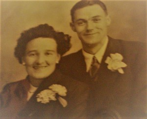 Maurice and Mary Nugent, pictured on their wedding day in 1945.