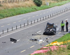 The scene on the Piltown/Fiddown Bypass following a fatal road traffic accident last August.