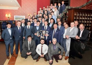 The 2016 Munster and All-Ireland Under-21 Hurling Championship-winning panel, pictured with management and the backroom team at the Park Hotel on Sunday last.