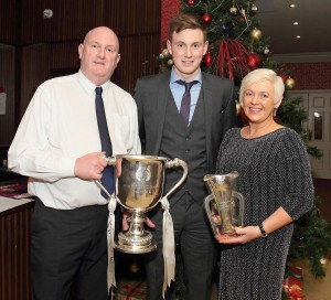 Double Hurler of the Year Austin Gleeson, pictured with his parents Austin Senior and Tina .