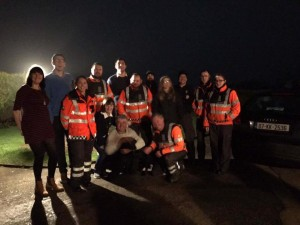 Volunteers who assisted in the search for Gertie.