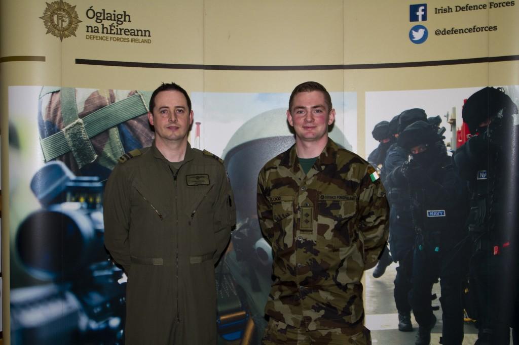 Capt John Butler and Lt Shane Flood.