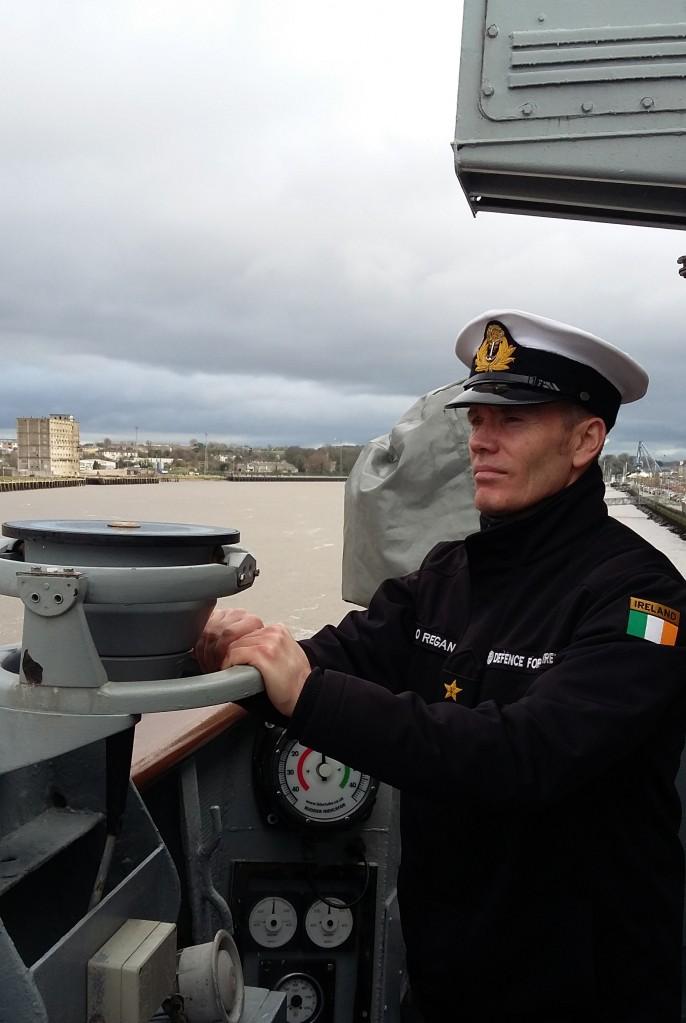 As Captain, Lt Cdr O'Regan has overall command on board the LE Ciara.