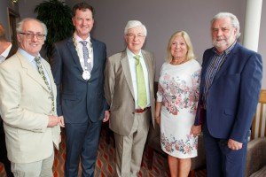 Pictured at the Local Ireland Awards held in Portlaoise on Thursday last were, from left: Kieran Walsh (MD, The Munster Express), Frank Mulrennan (President, Local Ireland & Celtic Media Group), David Burke (outgoing President, Local Ireland), Marie O'Connor and John O'Connor.