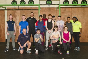 Participants in the Active Body Active Mind programme pictured in Waterford Warriors Gym with gym owner Gary Walsh. Also included is Brian O'Neill, Youth Sports Development Officer with Waterford Sports Partnership.  Photo: Mick Wall.