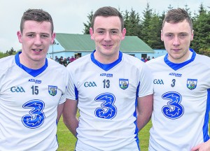 Band of brothers: It was a proud evening for Ballysaggart's Shane, Stephen and Kieran Bennett.