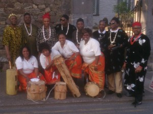 Igbo dancers who attended the Africa Day event at St Patrick's Gateway on Thursday last.