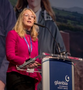 Siobhan Talbot (Glanbia Group Managing Director) pictured at the Glanbia Co-Op Special General Meeting at Punchestown Event Centre on Thursday last. | Photo: Dylan Vaughan