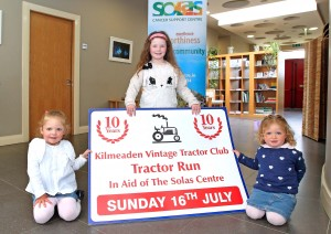 Young tractor fans were on hand to help with the launch of the 10th Anniversary Kilmeaden Vintage Tractor Club Tractor Run.