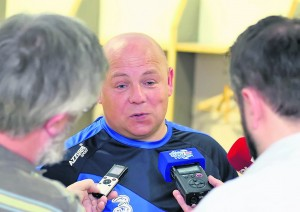Waterford manager Derek McGrath pondering what went wrong for his charges during last Sunday's post-match interview at Semple Stadium.| Photos: Noel Browne