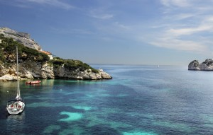 The beautiful waters of nearby Calanques.