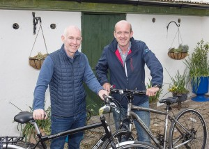 'The Greenway Man' Garvan Cummins pictured with RTÉ's Ray D'Arcy.